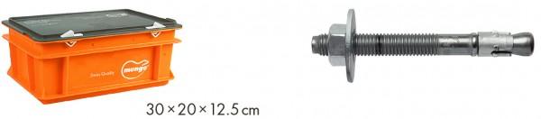 Mungo m2-C Stahlbolzen mit grosser U-Scheibe DIN 9021 in Mini-Box, lose