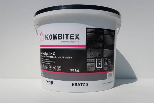 Kombitex Silikatputz X 25kg weiß