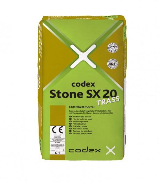 codex Stone SX 20 Trass Mittelbettmörtel
