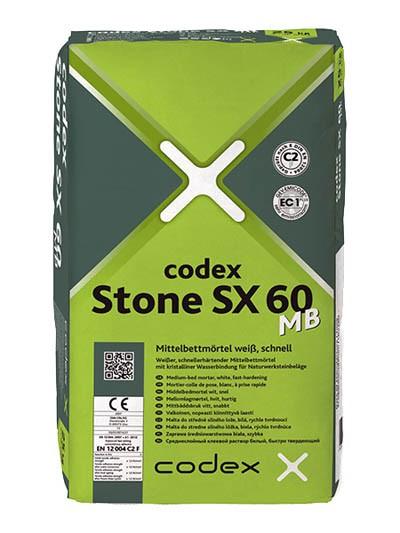 codex Stone SX 60 MB Mittelbettmörtel weiß, schnell