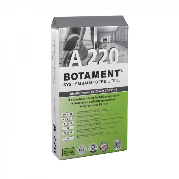 Botament A 220 Nivelliermasse bis 20 mm CT-C35-F7 25 KG
