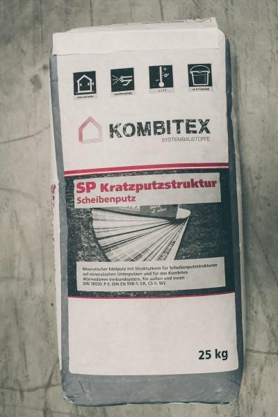 Kombitex Scheibenputz Kratzputzstruktur 25kg weiß