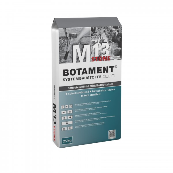 Botament M 13 Stone Natursteinmörtel Mittelbett/Dickbett 25 KG